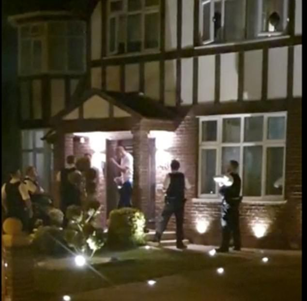 Rescue workers arrived at the house to interrupt the event and an altercation took place