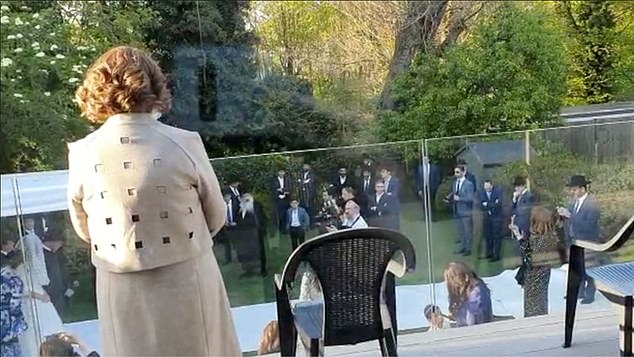 Wednesday, about forty people attended the wedding ceremony in the garden