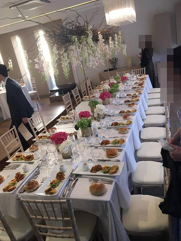 The wedding banquet top table alone had 20 seats close together. Eleven were taken by family members of the groom, and nine by the family of the bride