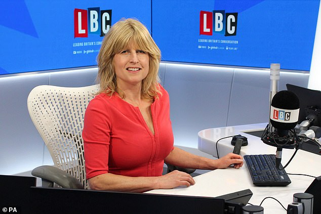 Rachel Johnson joined the talk radio station LBC to present a new Friday evening programme