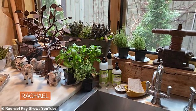 Eco-friendly: The chef uses organic dish soap and grows her own herbs