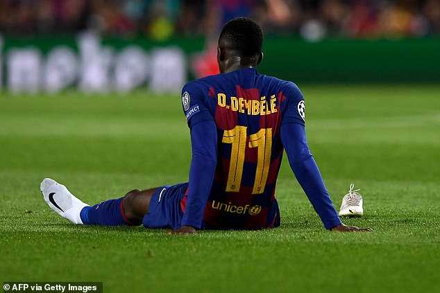 Man United and Arsenal reportedly interested in Dembele but worried about injuries