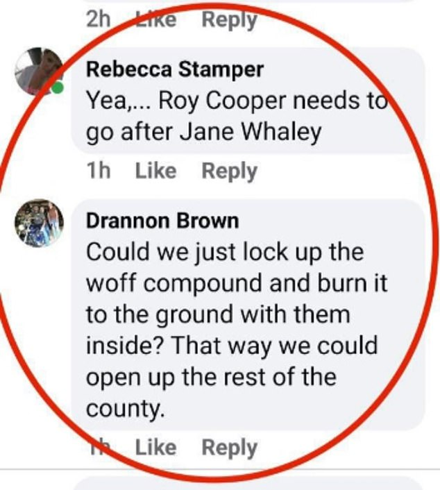 Others posted messages online about burning down the church with members inside