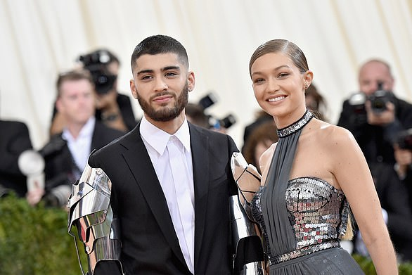 Glam couple: Zayn and Gigi attended the Met Gala together in 2016