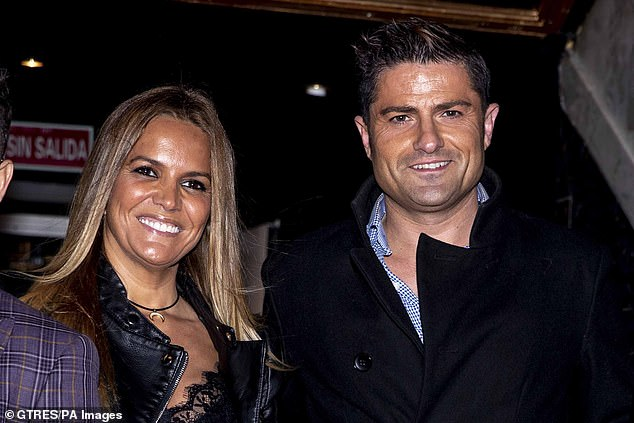 Merlos has insisted that he and López, pictured together in November 2019, have split up and were not together when the incident occurred. She denies this, saying they were still together