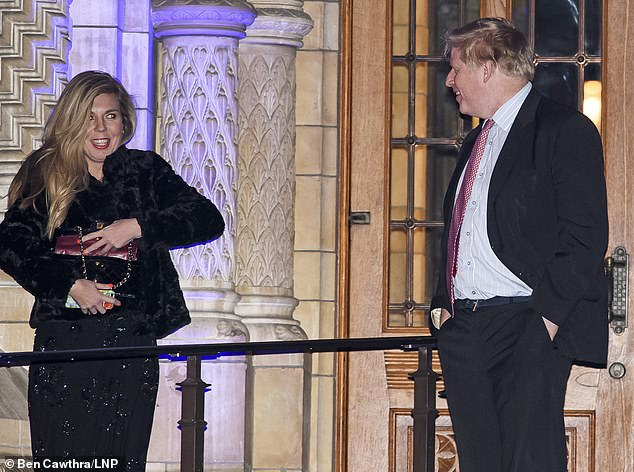 Carrie and Boris were first pictured together in February 2018 after a Tory ball at the Natural History Museum