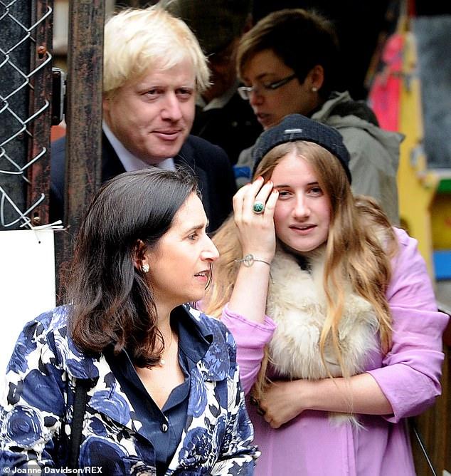 Lara Lettice Johnson with Boris Johnson and Marina Wheeler in North London in May 2012