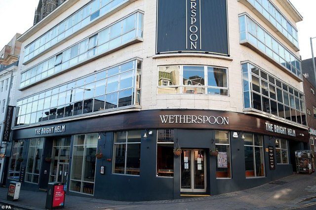 Wetherspoons is planning to re-open its pubs and hotel nationwide 'in or around June'