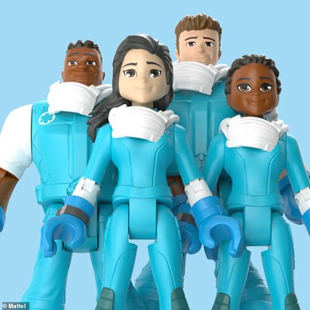 Toy maker Mattel launched a new toy line this week, 'Thank You Heroes,' honoring workers on the front lines of the coronavirus pandemic. Pictured are figures from the 'Nurses Collection,' which