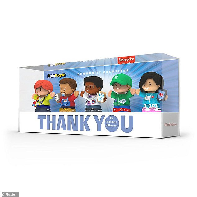 Fisher-Price also offers a five-character Little People set version of the first responders (pictured), also for $20. Mattel pledges to send $15 from each sale of the new toy lineto support First Responders First for essential supplies, equipment and resources