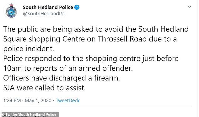 South Hedland Police issued a tweet asking people to avoid the area, and confirmed someone had been shot