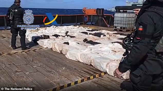On April 25, the Spanish military seized a ship that crossed the Atlantic Ocean with 4.4 tons of cocaine loaded off the coast of Venezuela earlier this month.