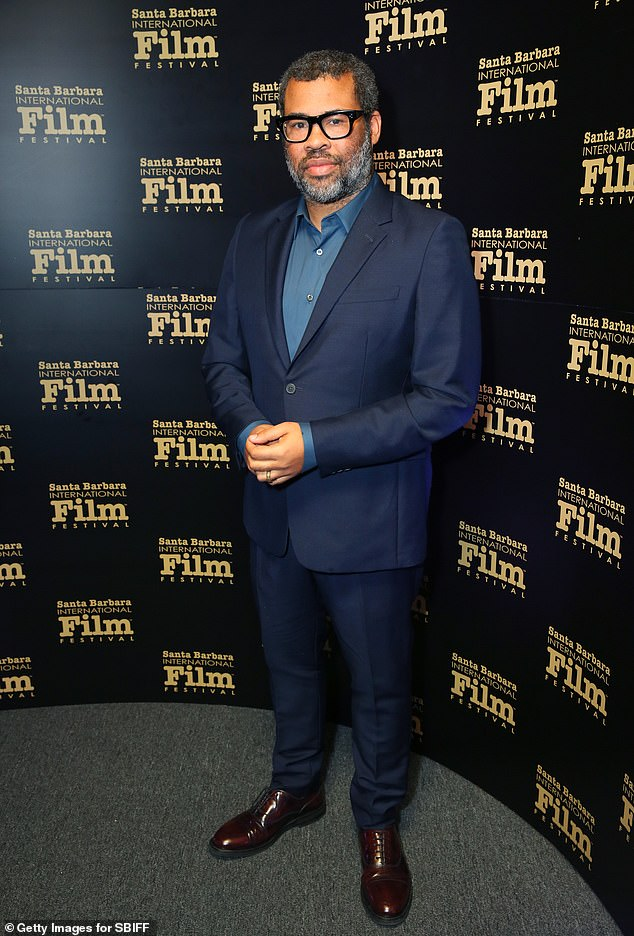 Double trouble: Producer Jordan Peele is also producing and co-writing the highly anticipated sequel Candyman, directed by Nia DaCosta; shown in January in Santa Barbara, California