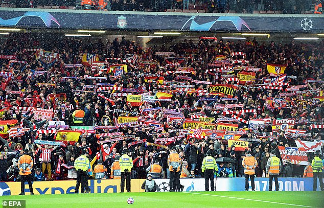 Government has declared it safe for hordes of Atletico Madrid fans to descend to Liverpool