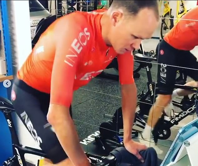 Froome and colleagues from countries completely locked out have been forced into trainers