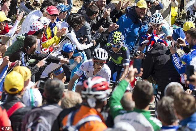 Huge crowds on uphill slopes like Mont Ventoux are an integral part of the famous race