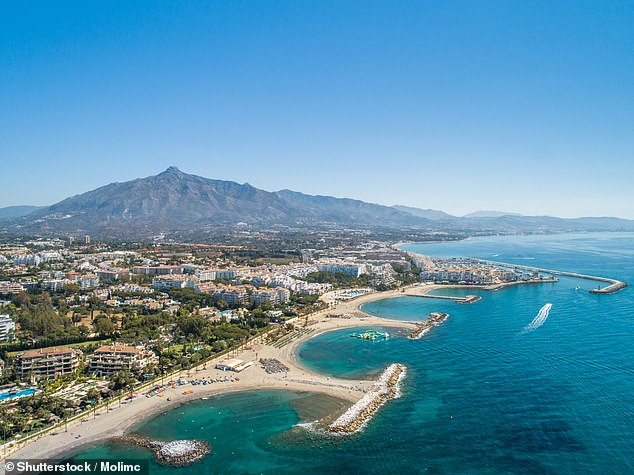 Phillip Burns, a management consultant who was paid £2,000 a day to cut costs at a struggling NHS clinic and spent most of his time at his luxury penthouse in Marbella (pictured) has been axed by his health board