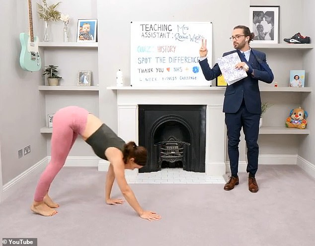 Ruthless: Joe put his wife to the test with his usual brand of short, energetic free exercises