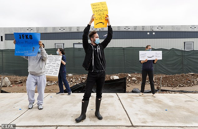 Workers at more than a dozen Amazon factories tested positive for COVID-19, and at least one worker died. Protesters demand more adequate security protocols