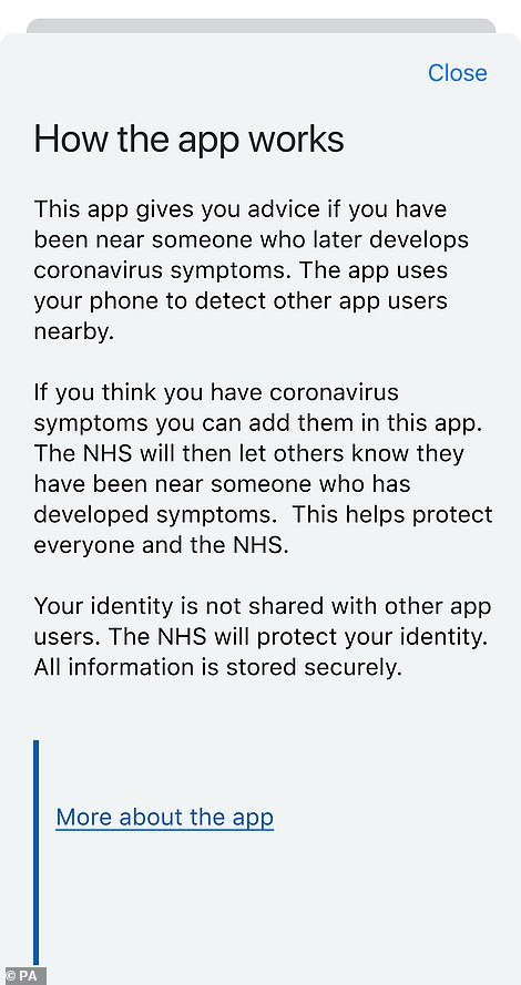 If a person has been close to a person who is later believed to be ill with COVID-19, they will receive an anonymous alert that they are at risk