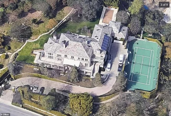 The manor also has a gym, swimming pool, wine cellar, orchard and garage for five cars