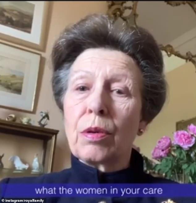 La princesse Anne, 69 ans, a fait l'éloge des travailleurs du NHS alors qu'elle partageait un message pour célébrer la journée internationale de la sage-femme