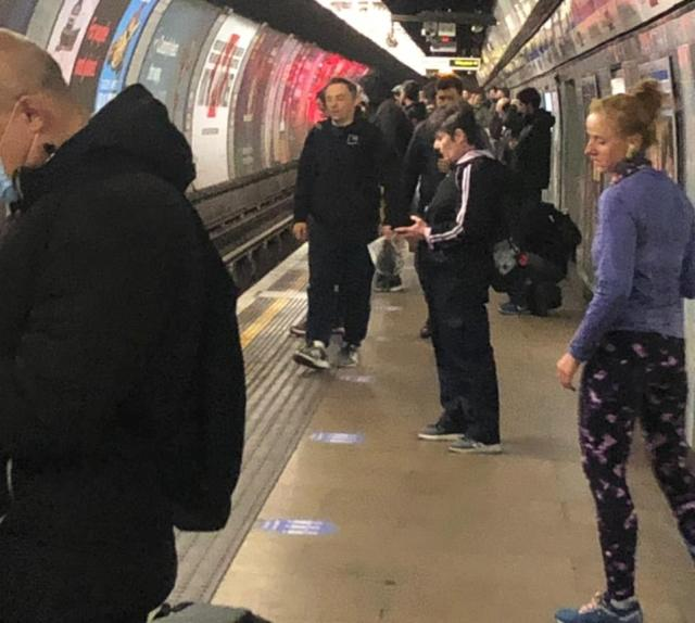 The platform atTottenham Hale tube station was clearly packed with commuters this morning