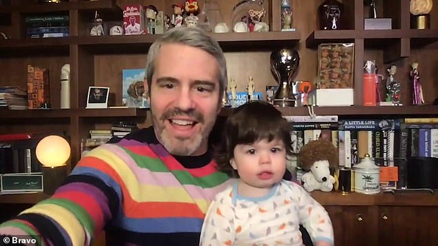 'We've been jamming to music since the day he was born, and it makes me sooo proud to see him finding the groove all on his own!' the 51-year-old Watch What Happens Live host gushed to his 3.8M Instagram followers