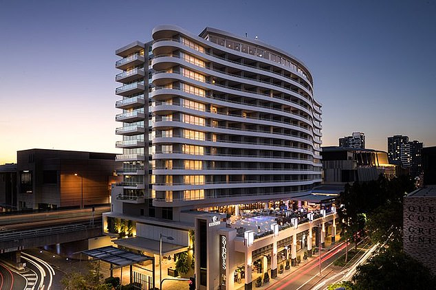 Brisbane unit prices were tipped to dive by 5.5 per cent in 2020 and by another 8.6 per cent next year. A 14.1 per cent plunge by 2021 would see median apartment prices fall to just $333,918. Pictured is Brisbane's city centre