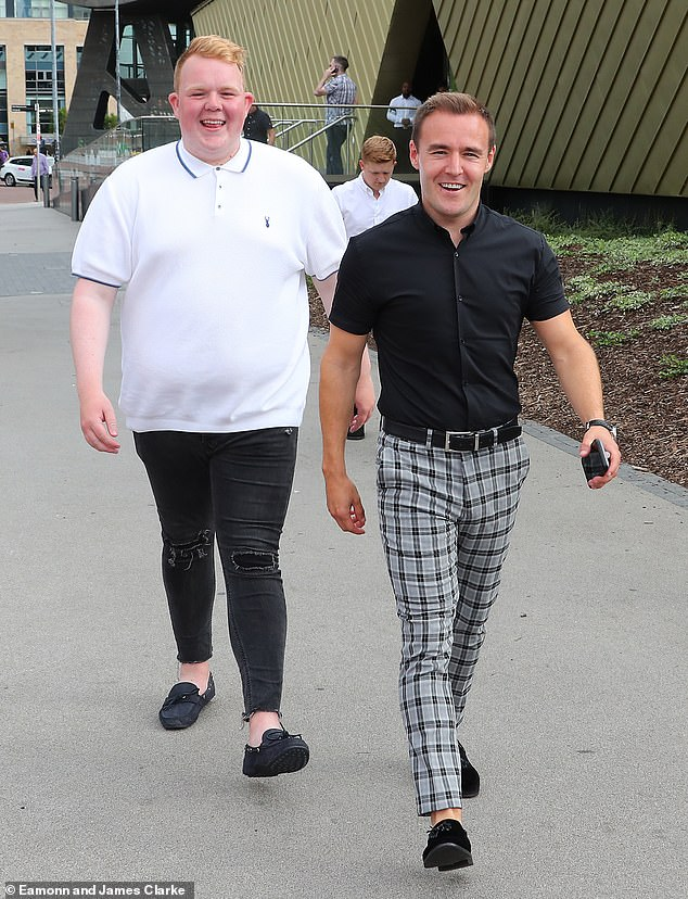 Open: Colson was very happy to discuss his lifestyle changes on social media (pictured in 2018 with co-star Alan Halsall, who plays Tyrone Dobbs)