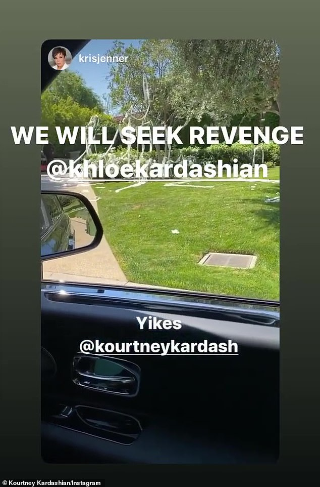 Driven by: Momager Kris Jenner quickly hopped on social media after seeing Khloé's practical work and said, `` Well, someone got their bathroom tissue last night, well Kourtney, who did you p * ss off? ''