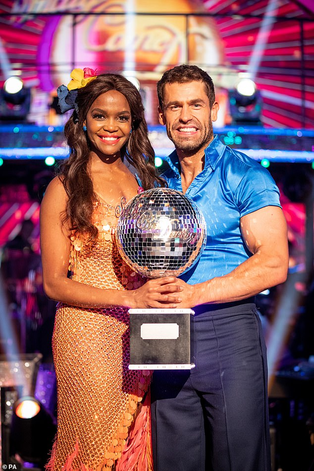 Strictly distanced: Bosses are considering putting forward drastic measures in a bid to save the show amid the pandemic (2019 winners Oti Mabuse and Kelvin Fletcher pictured)