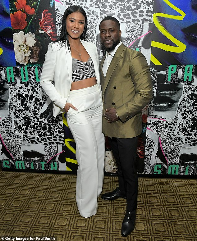 Happy couple: Eniko and Hart have been married since 2016; the pair photographed together in 2019