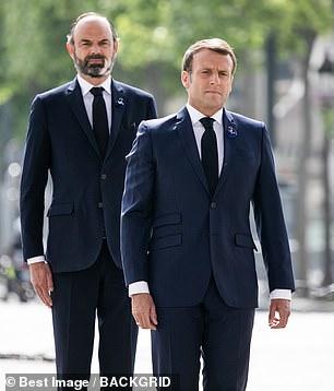 Sur la photo: Emmanuel Macron