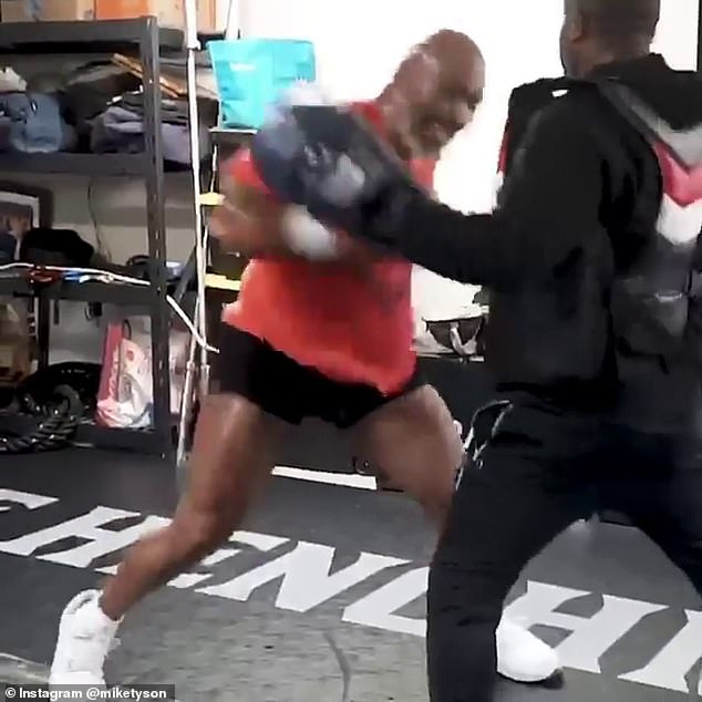 Former heavyweight champion trained before potential show fights