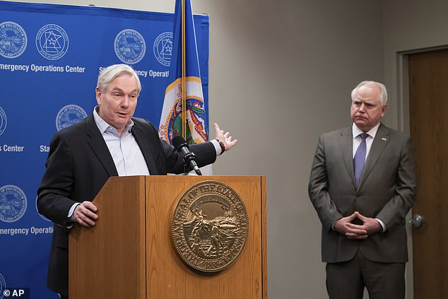 Dr. Michael Osterholm (left), director of the Center for Infectious Disease Research and Policy at the University of Minnesota, published the terrible prediction in an interview on Monday.