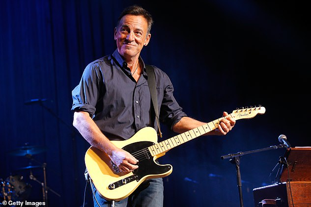 Another version displays a list of files with the names of celebrities, including Bruce Springsteen