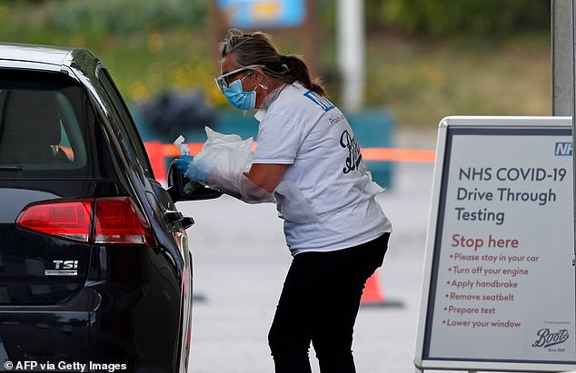 The test - which Prime Minister Boris Johnson previously called a `` game changer '' - collects cases where someone has had a coronavirus in the past and can be used on people who have no symptoms. Pictured: driving test center in Chessington