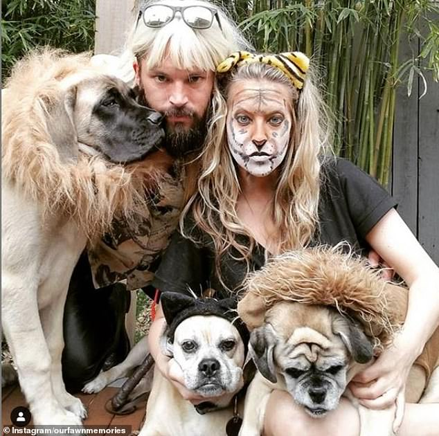 They dressed up like Joe Exotic from the Netflix docu-series Tiger King