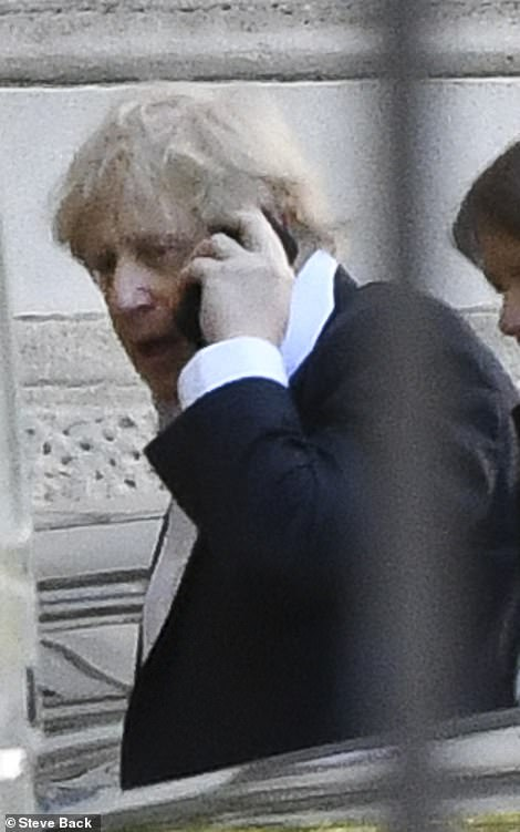 Mayor of London Sadiq Khan has launched an extraordinary attack on Boris Johnson  (pictured today) and also warned he will cut Tube, train and bus services unless the PM agrees an emergency bailout by the end of today