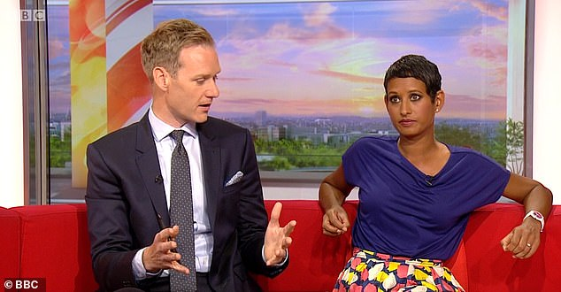 Career: Naga is the second oldest member of the current presentation team, having joined the show in 2009, becoming a main presenter in 2014 [pictured with Dan Walker]