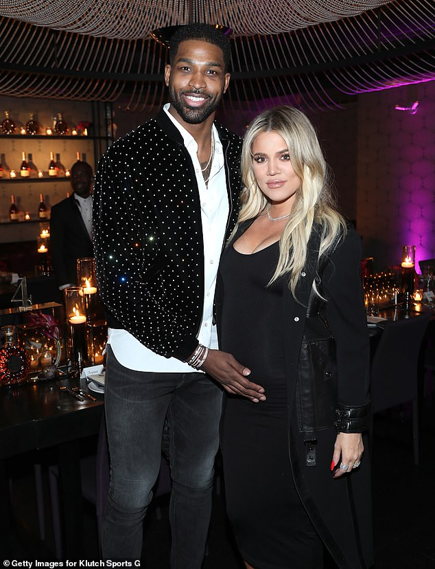 Throwback: The NBA star and Khloe split in February 2019 following two cheating scandals that rocked their almost three year relationship; they remain amicable as they raise daughter True; pictured February 2018