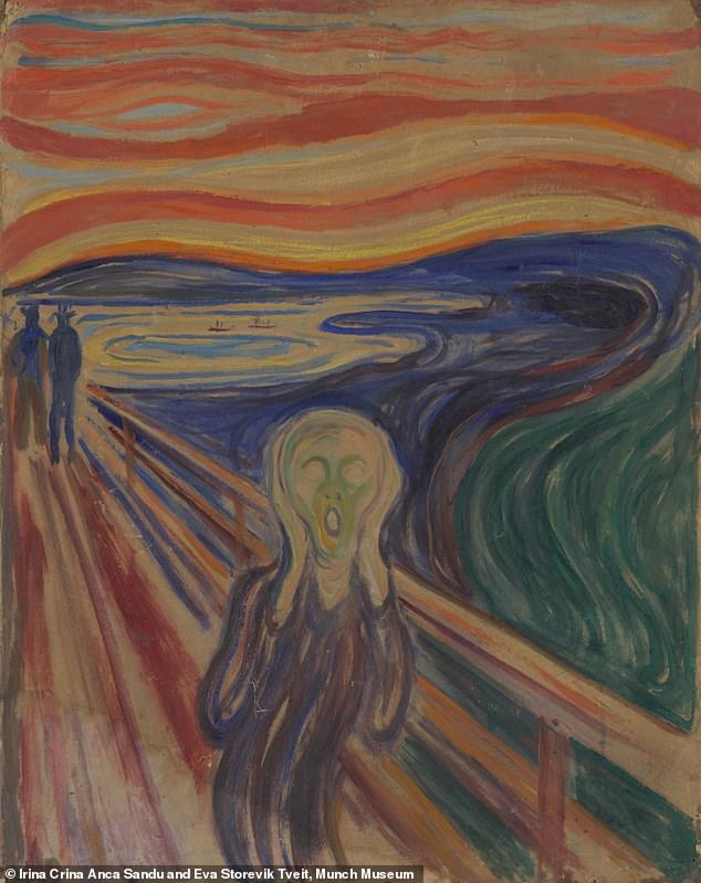 One of the painted versions of The Scream, thought to be painted in 1910, and the subject of the study