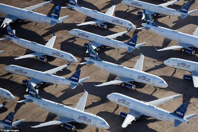 Many of the aircraft early on came from Delta Air Lines. JetBlue has accounted for most of the arrivals in April. Air Canada and its low-cost subsidiary, Rouge, have sent about 30 aircraft