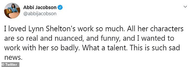 Abbi from Broad City shared: 'I wanted to work with her so badly. What a talent'