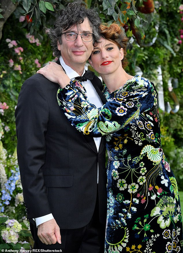 Pictured: Neil Gaiman with his wife Amanda Palmer, who admitted they are going through troubles in their marriage earlier this month