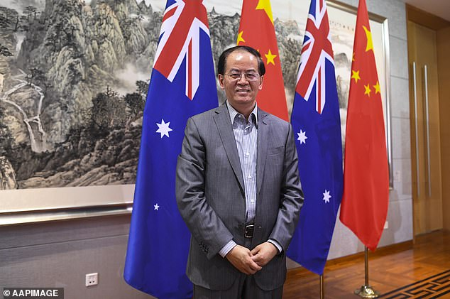 Chinese Ambassador to Australia Jingye Cheng (pictured) warned Chinese consumers may stop buying Australian products in retaliation over calls for an international coronavirus probe