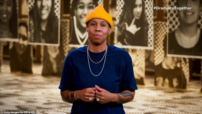 Words of wisdom: Lena Waithe also gave a brief but uplifting speech as she introduced another performance