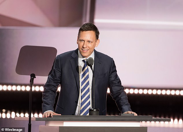 Thiel spoke at the Republican National Convention in support of Trump. He is seen above at the convention in Cleveland in July 2016