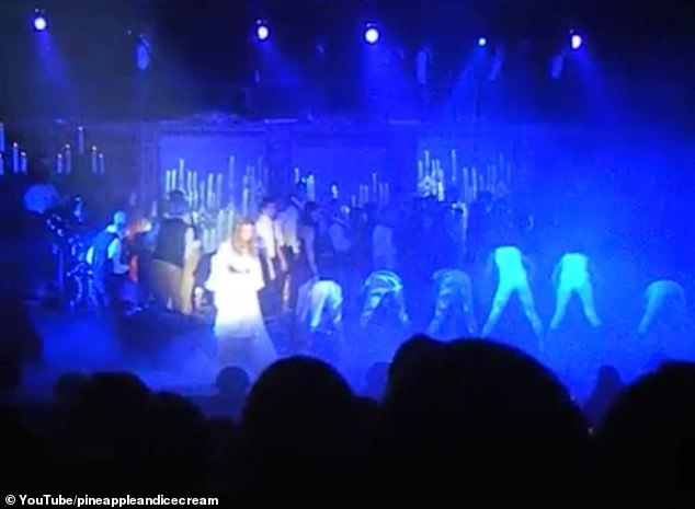 What a game of lungs: Paul showed his prowess in singing in the 2012 school production